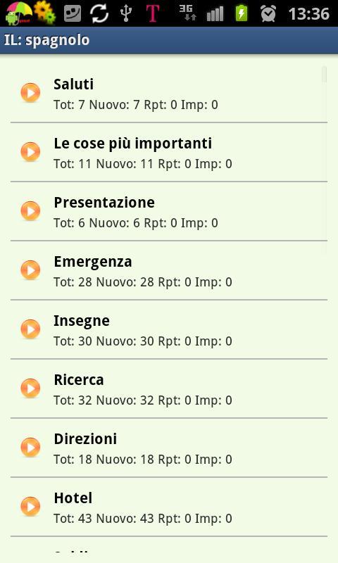 Imparare lo spagnolo- screenshot