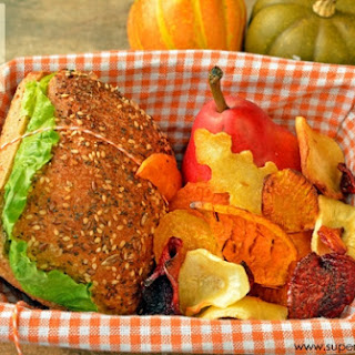 Root Veggie Chips- Healthy Lunch Idea for Kids.
