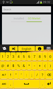 Keyboard for Android Yellow - screenshot thumbnail