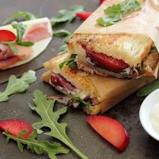 A Plum Sandwich, with Prosciutto, Provolone, Arugula, and Sage Recipe