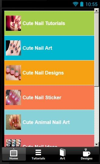 Make your own cute nails - screenshot