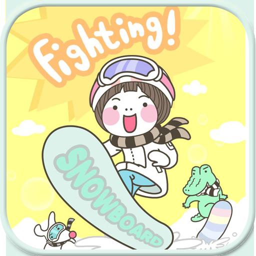 Snowboard go locker theme
