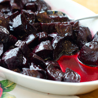 Roasted Beets with Balsamic Glaze.