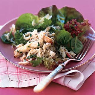 Lemony Crab Salad with Baby Greens.