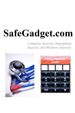 SafeGadget - Computer Security- screenshot