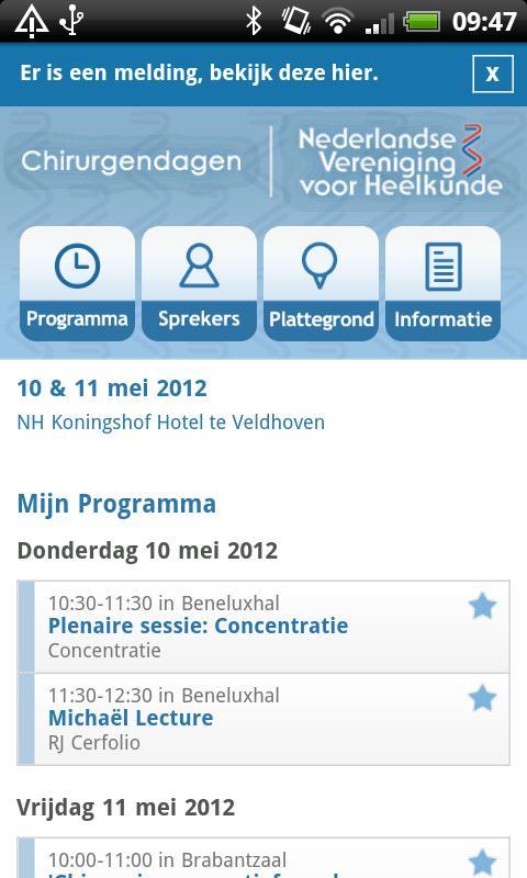 NVvH Chirurgendagen 2012- screenshot