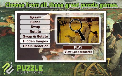 Free Edgar Degas Puzzles