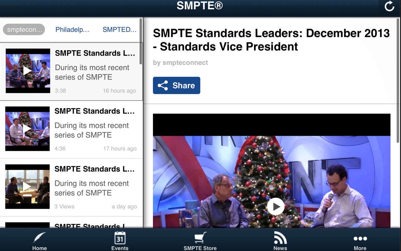 SMPTE® - screenshot
