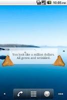 Screenshot of Fortune Cookie Message Widget