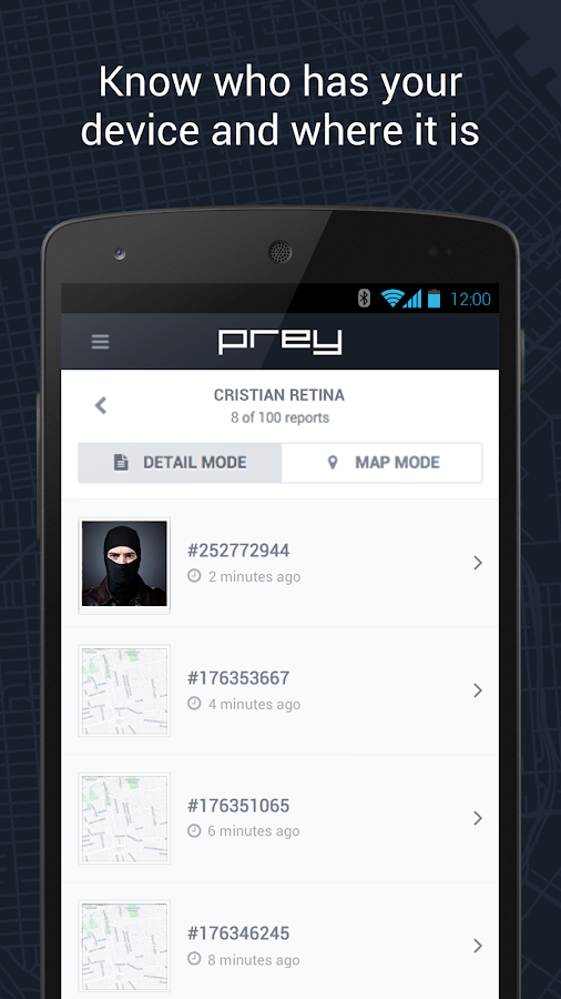 Prey Anti Theft - screenshot