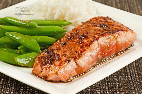 Salmon Fillets with Garlic-Soy Pan Sauce Recipe