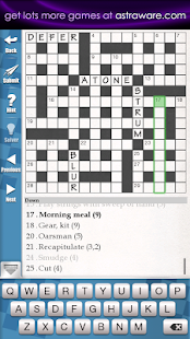 Astraware Crosswords - screenshot thumbnail