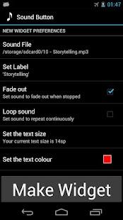 Sound Button widget- screenshot thumbnail