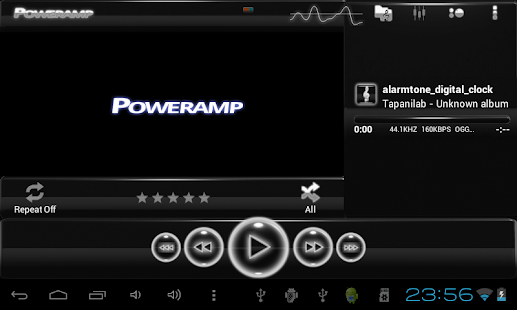 poweramp skin glow white Screenshot