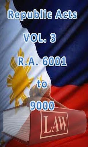 Philippine Laws - Vol. 3