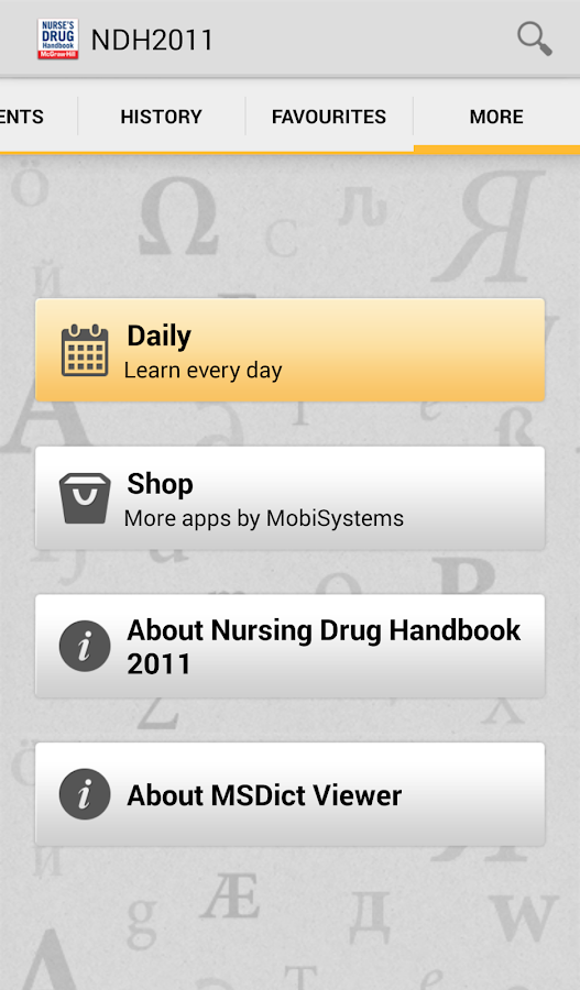 Nurse's Drug Handbook TR - screenshot