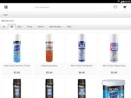 Screenshot of Xcluciv Barber Supplier