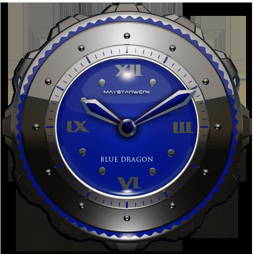 Dragon Clock Widget blue
