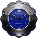 Dragon Clock Widget blue icon