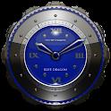 Azul dragão Widget de relógio icon