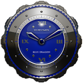 Dragon Clock Widget blue