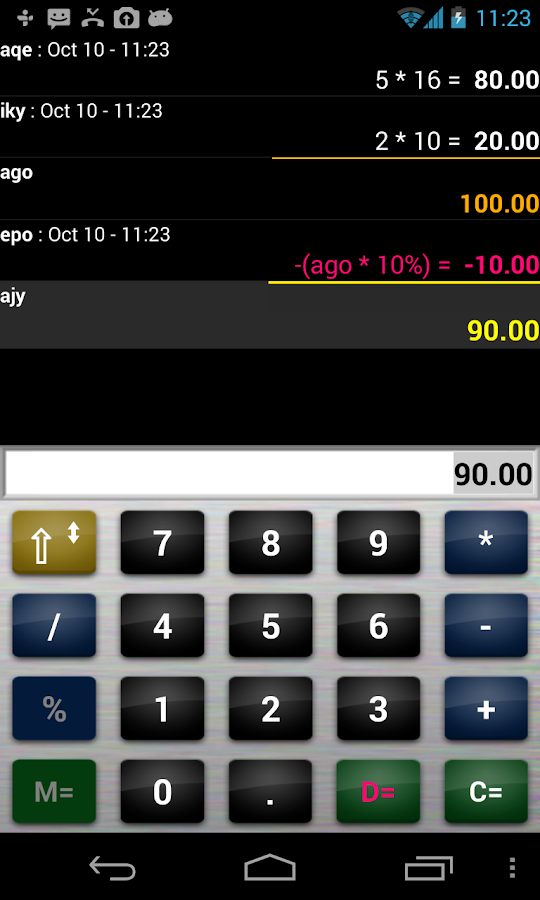 Calculator quotation business- screenshot