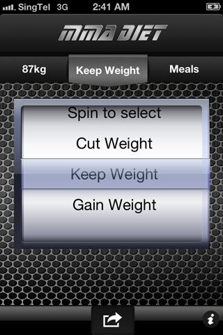 MMA Diet- screenshot