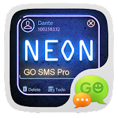 NEON THEME GO SMS PRO  EX