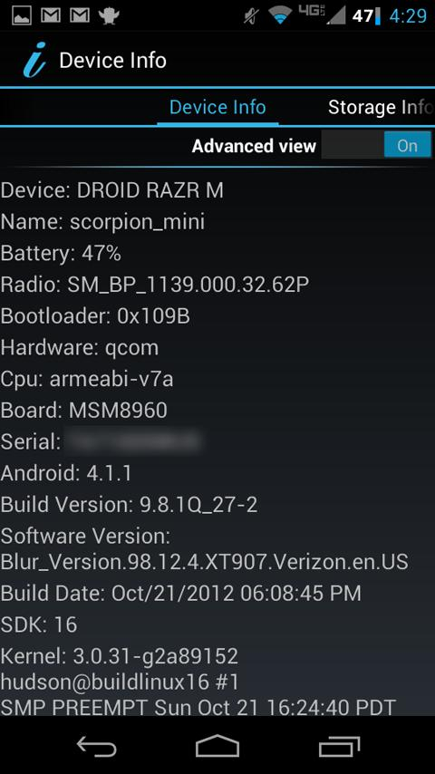 Device Information - screenshot