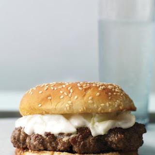 Lamb Burger with Yogurt Sauce