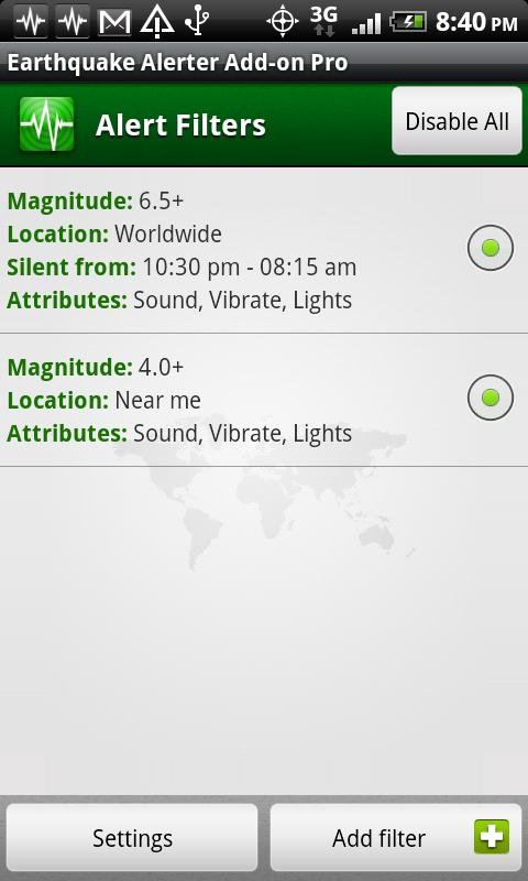 Earthquake Alerter Pro - screenshot