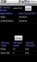 Screenshot of Bluetooth App. Launcher (Paid)