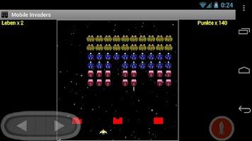 Screenshot of Mobile Invaders