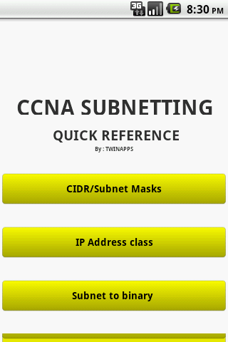 CCNA Subnetting Quick Ref.