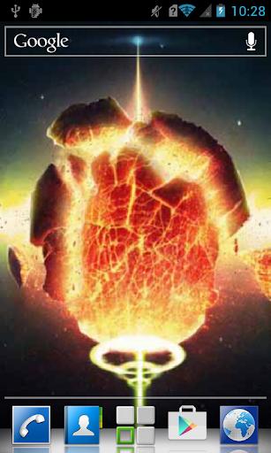 Fiery bunch in cosmos LWP
