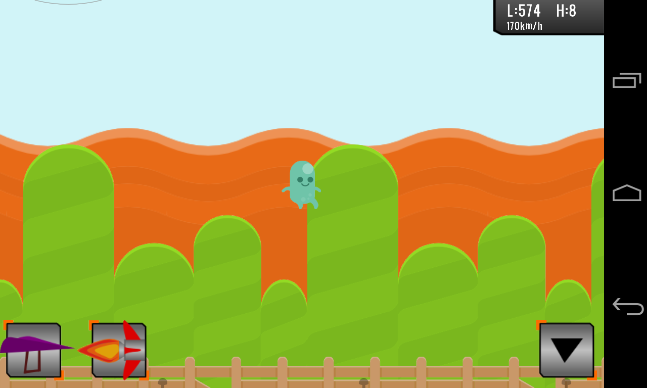 Flying Jelly Bean- screenshot