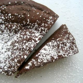 Decadent Flourless Chocolate Cake.