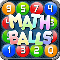 Math Balls. Number game icon