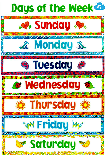 Learn Days Of The Week