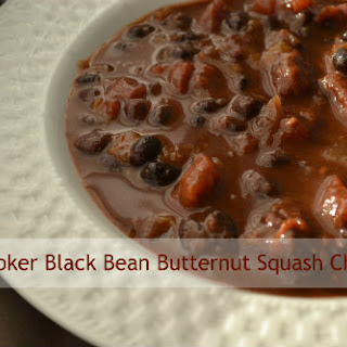 Slow Cooker Black Bean Butternut Squash Chili
