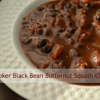Slow Cooker Black Bean Butternut Squash Chili.