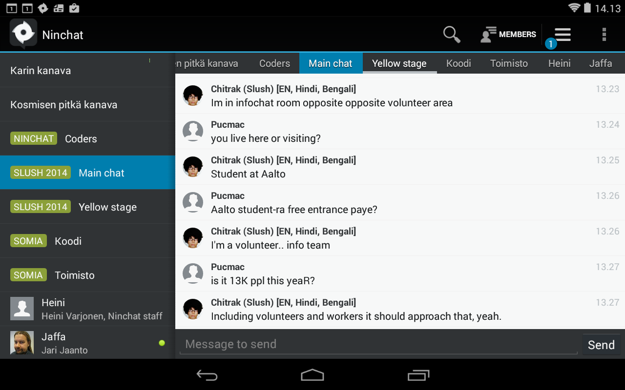 Ninchat - screenshot