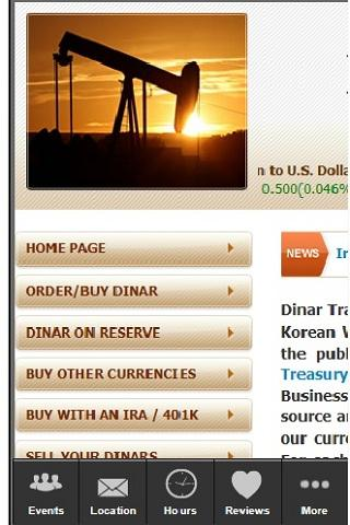 Iraqi dinar marketing - screenshot