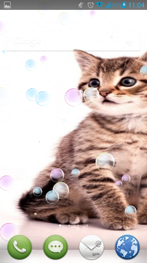 Kittens Play With Bubbles LWP