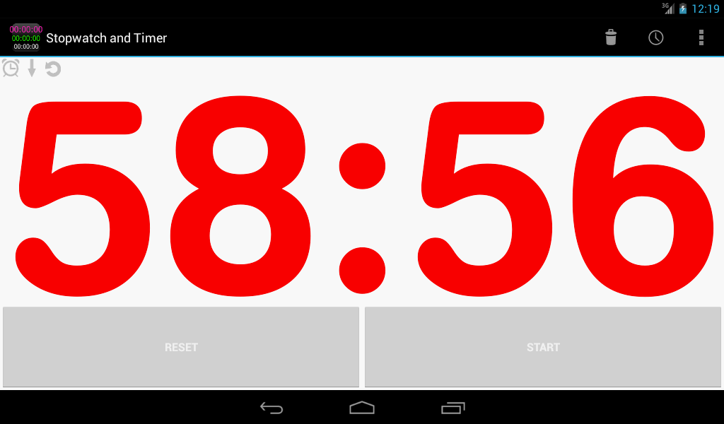 Custom Stopwatch & Timer free - screenshot