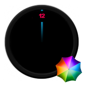 Vanishing numbers Clock Widget