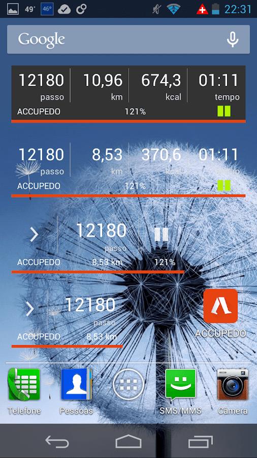 Podômetro - Accupedo-Pro - screenshot
