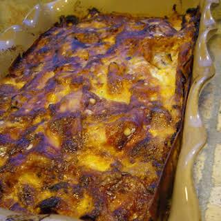 Eggplant Lasagna with Crude Ham.