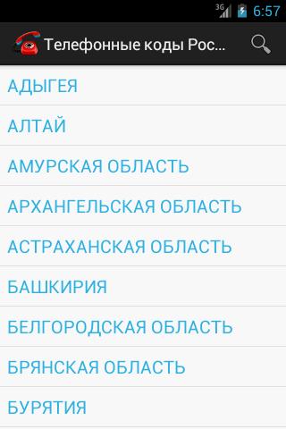 Телефонные коды России