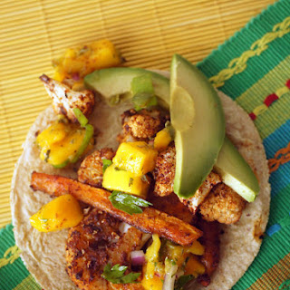 Cauliflower Chipotle Tacos with Mango Lime Salsa